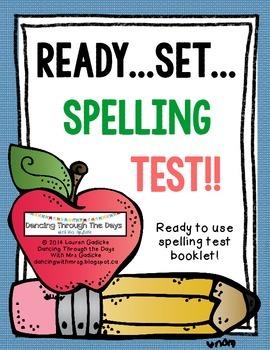 Ready...Set...Spelling Test!