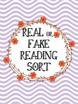 Real & Fake Reading Sort