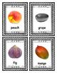 Real Fruit Pictures ~ Quarter page Flash Cards ~ 40 unique
