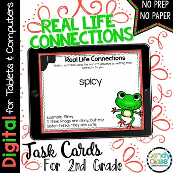 Real Life Connections Task Cards for Google Classroom Use