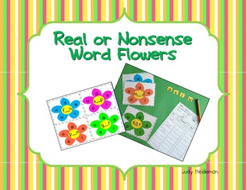 Real / Nonsense Word Flowers