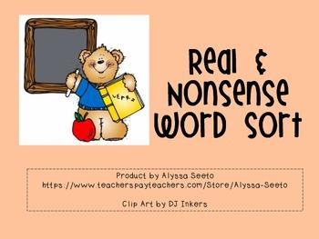 Real & Nonsense Word Sort