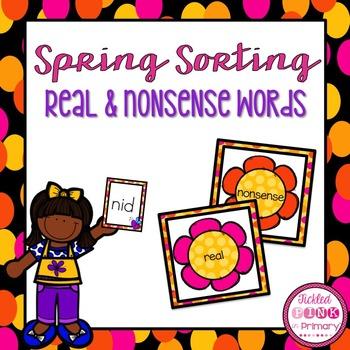 Real & Nonsense Word Spring Sorting