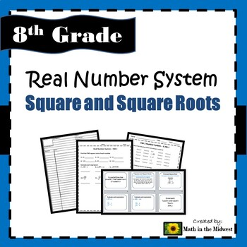 8.EE.A.2 Real Number System - Square and Square Roots
