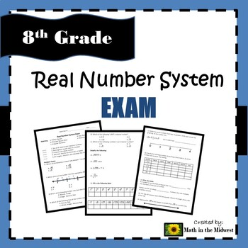 8.NS.A.1, 8.NS.A.2, 8.EE.A.2 Real Number System - Exam