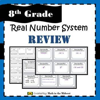 8.NS.A.1, 8.NS.A.2, 8.EE.A.2 Real Number System - Review Game