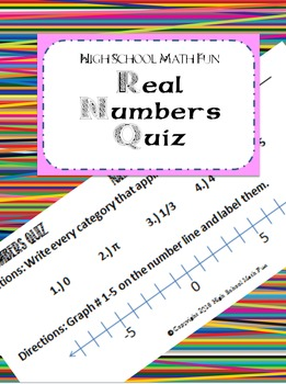 Real Numbers Quiz
