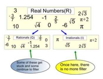 Classify & Define Real Numbers, a Lesson and 8 Assignments