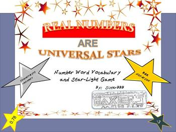 Real Numbers are Universal Stars
