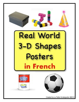 Real World 3-D Shapes Posters in French