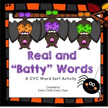 """Halloween - Real and """"Batty"""" (Nonsense) Words"""