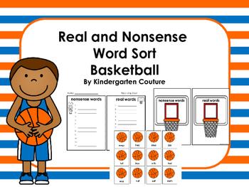 Real and Nonsense Word Sort -Basketball