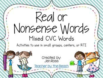 Real and Nonsense Words: Mixed CVC
