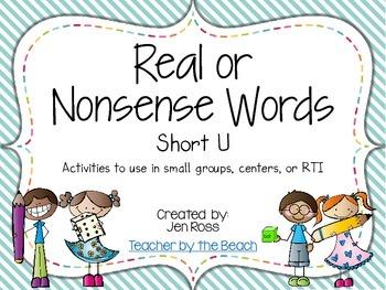 Real and Nonsense Words: Short U