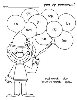 Real or Nonsense Words