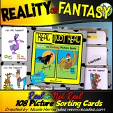 Reality vs Fantasy - 108 Sorting Cards for Budding Readers!
