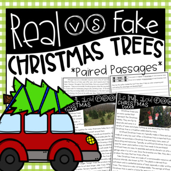 Real vs. Fake Christmas Trees {Paired Passages, Writing Pr