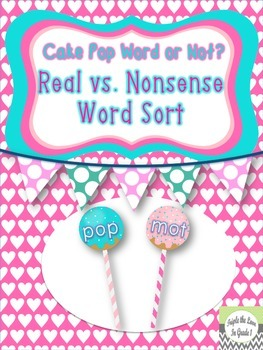 Real vs. Nonsense Word Sort - Free