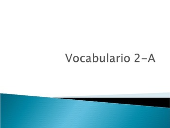 Realidades 1- 2-A Vocabulary Slides