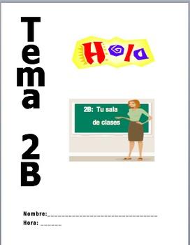 Realidades 1 2B PACKET:  La sala de clases
