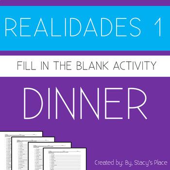 Realidades 1: 3B: Para mantener la salud: Fill-in-the-blan