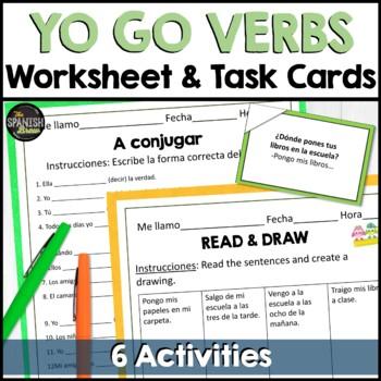 Realidades Spanish 1 5B grammar practice: Yo go verbs