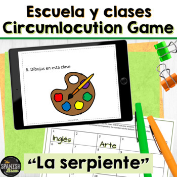 Realidades 1 2A VOCAB review: game El Serpiente