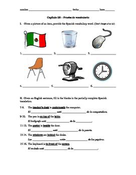 Realidades 1 Capítulo 2B vocab quiz/practice on classroom