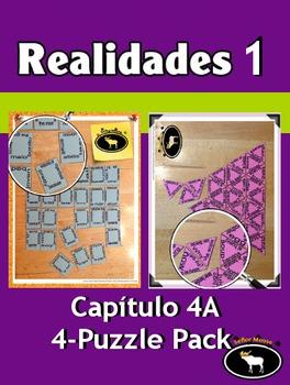 Realidades 1 Capítulo 4A 4 Puzzle Pack