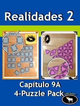 Realidades 2 Capítulo 9A 4 Puzzle Pack