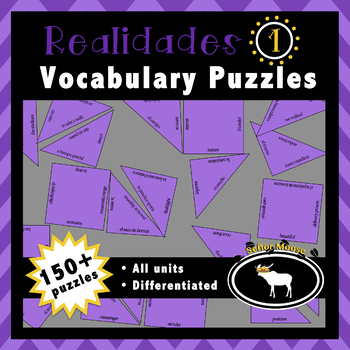 Realidades 1 Entire Textbook 76 Puzzle Pack