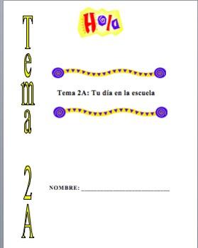 Realidades 1 Tema 2A Editable Supplemental Packet