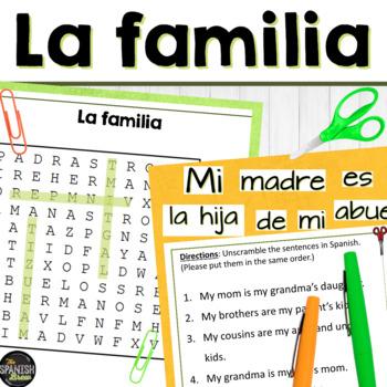 Realidades 1 cp. 5A 5B word search