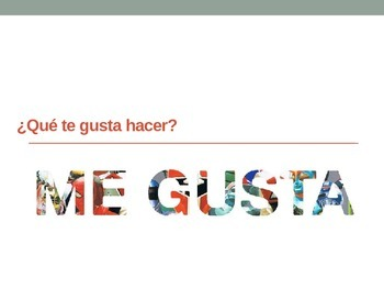 Realidades 1A Vocabulary PowerPoint - ¿Qué te gusta hacer?