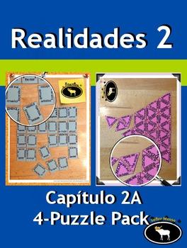 Realidades 2 Capítulo 2A 4 Puzzle Pack