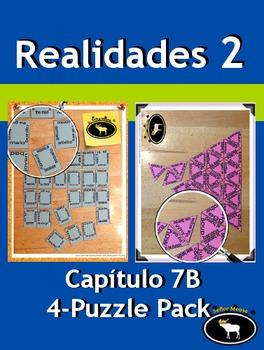 Realidades 2 Capítulo 7B 4 Puzzle Pack