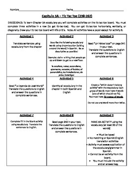Realidades 2 Chapter 5A DIFFERENTIATED vocab introduction