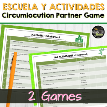 Realidades Spanish 2 1A 1B Bundle: vocabulary circumlocuti