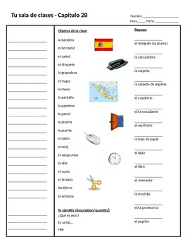 RealidadesI. Chapter 2B estar and plural nouns Cornell Notes