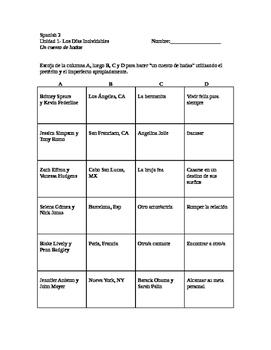 Realidades 3 Chapter 1 create a writing activity!