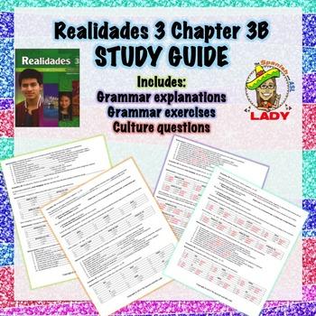 Realidades 3 Chapter 3B Review Sheet