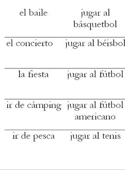 Realidades 4B Flashcards + Instructions for four flashcard games