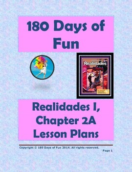 Realidades I, 2A Chapter Lesson Plan