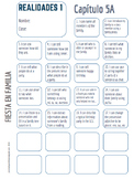 """Realidades Spanish 1 • """"I CAN"""" statement stamp sheet • 5A /5B"""