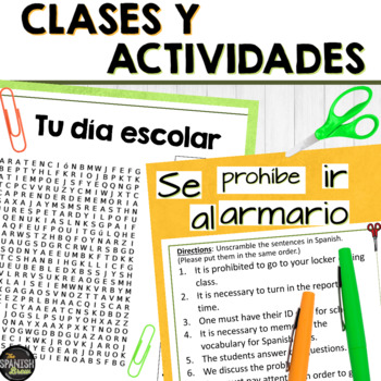 Realidades Spanish 2 cp. 1A 1B word search clothes ropa vocab