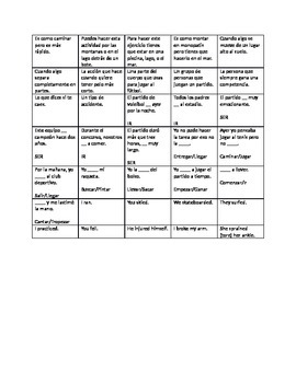 Realidades Spanish 3 Chapter 1 A ver si B Practice Cards