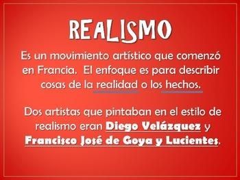 Realismo - Velazquéz y Goya