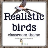 Realistic Birds EDITABLE Classroom Theme for Upper Elementary