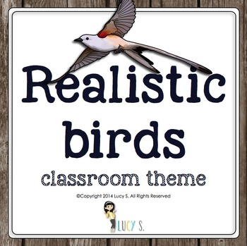 Realistic Birds EDITABLE Classroom Theme for Upper Elementary