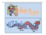 Realistic Fiction Genre Book Cards Sort